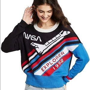 NASA Retro Patriotic Space Explorer 1992 Sweater